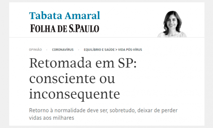 Retomada em SP: consciente ou inconsequente